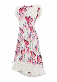 Mid-length cottondress with flowers
