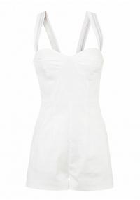 Short white jumpsuit