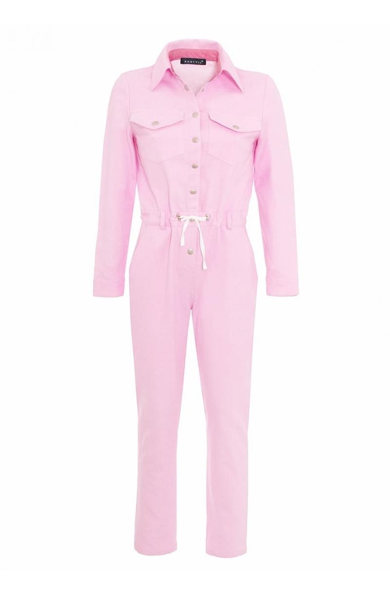Mono de algodon de color rosa