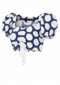 Short  top with biffan sleeves with dots