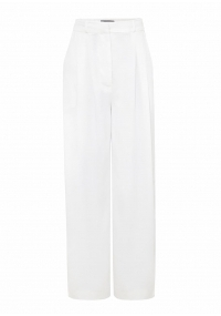 White wide leg pants withhigh waist