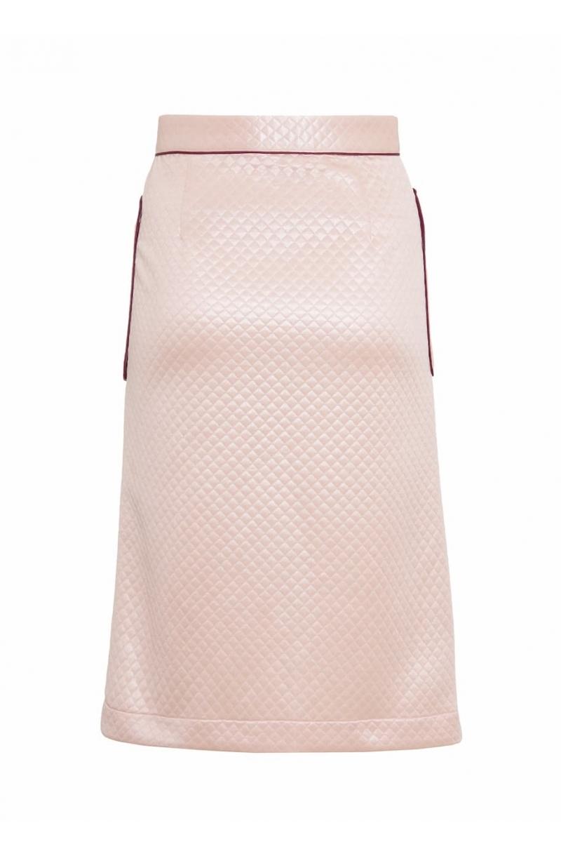 Пола с А- образен силует със средна дължина в светлосин цвят