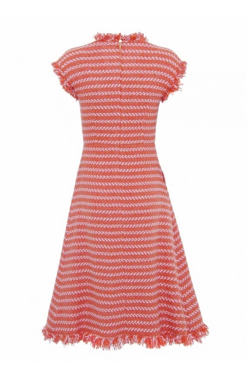 Mid-lenght bouclé dress