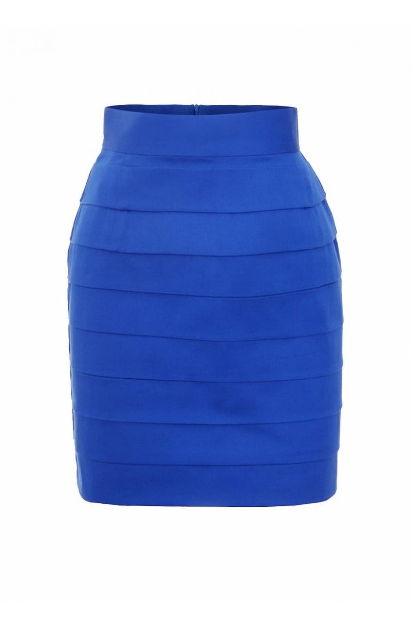 Falda corta de algoon con cintura alta