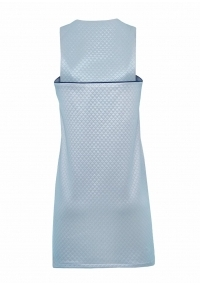 Short A- line dress in baby blue color