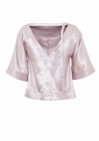 Satin silver blouse