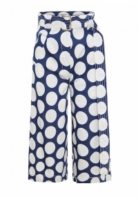 High waistedpolka dot culottes