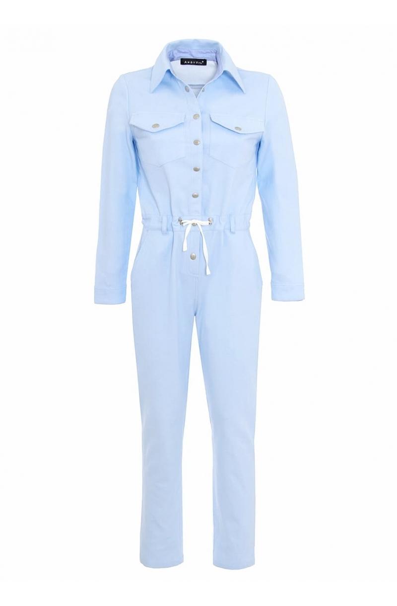 Mono de algodon de color azul claro