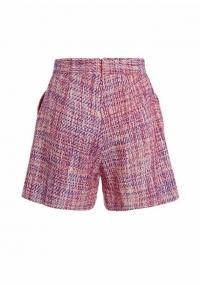 Bouclé shorts with fringes