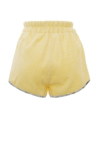 Terry cloth shorts with a retro cut in pale yellow