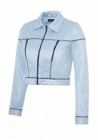 Късо яке с пластмасови ципове в светло син цвят