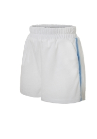 Terry cloth shorts in white