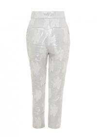 Silver high waist trousers