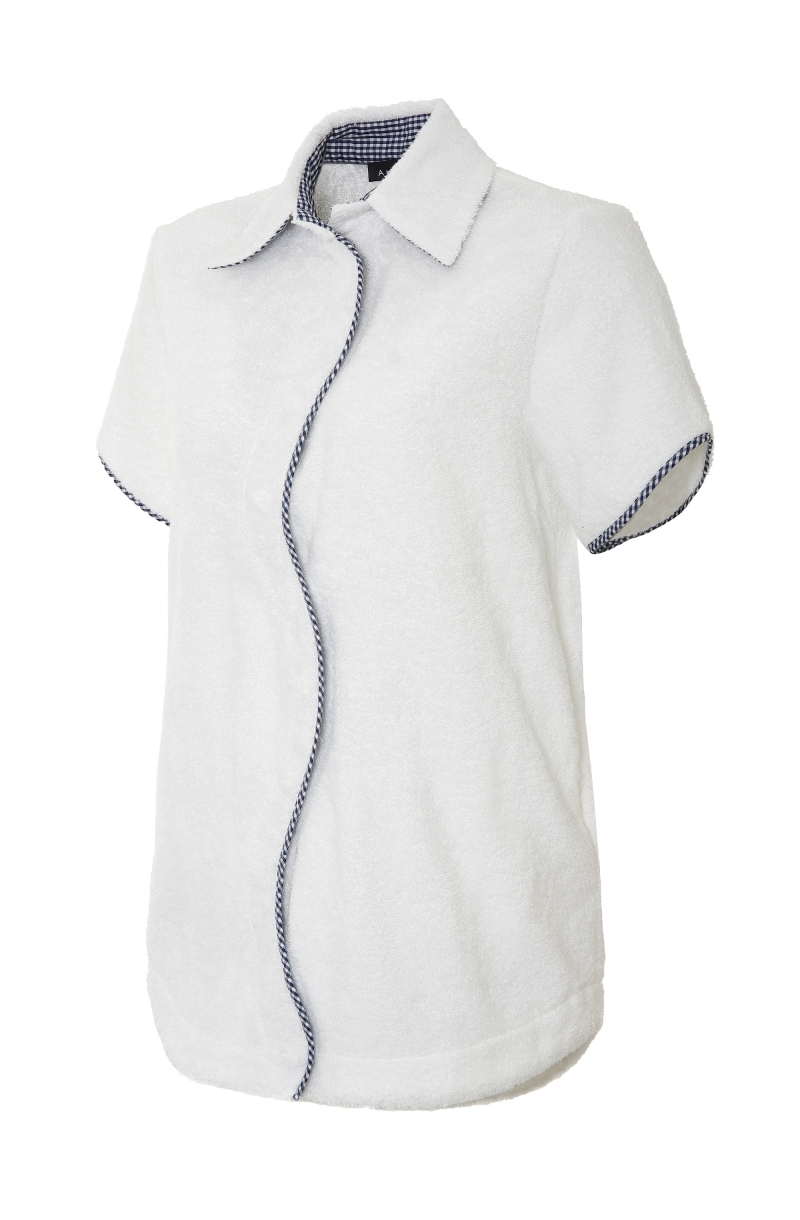 Unisex Terry cloth oversize shirt in white