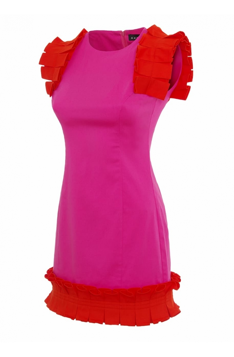 Short fitted dress in pink
