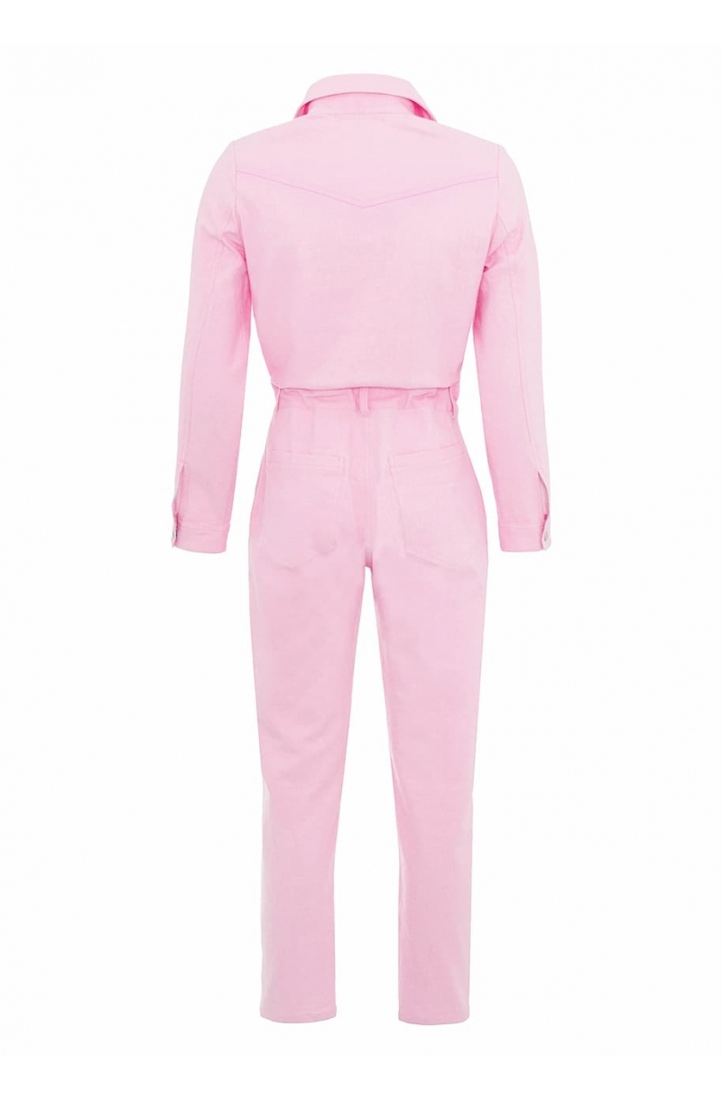 Cotton jumpsuit in pink